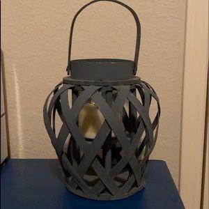 Blue wooden lantern